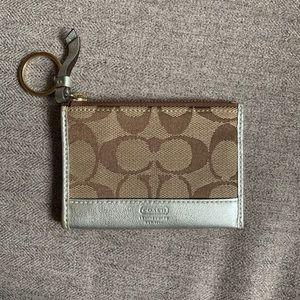 Coach Metallic Mini Wallet Keychain—Never Used
